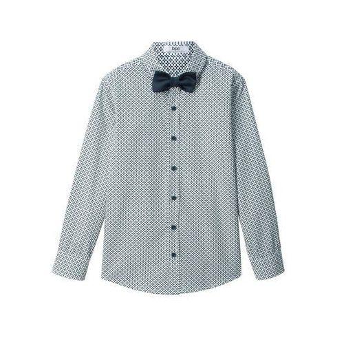 Koszula z krótkim rękawem Slim Fit bonprix biały, w 6 rozmiarach