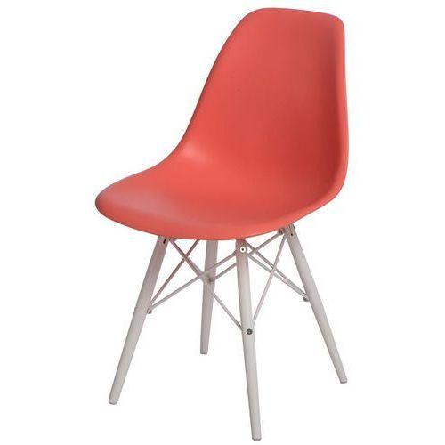 D2.design Krzesło p016w pp białe nogi (ciemna brzoskwinia) d2