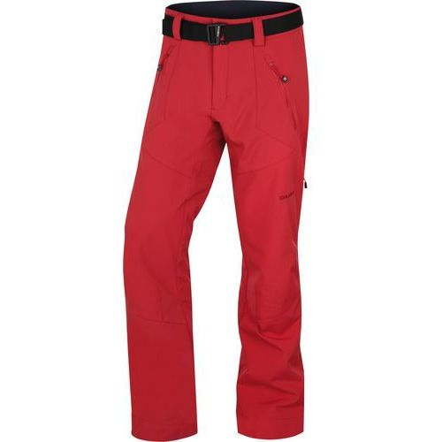Husky spodnie softshellowe męskie kresi m, czerwone l