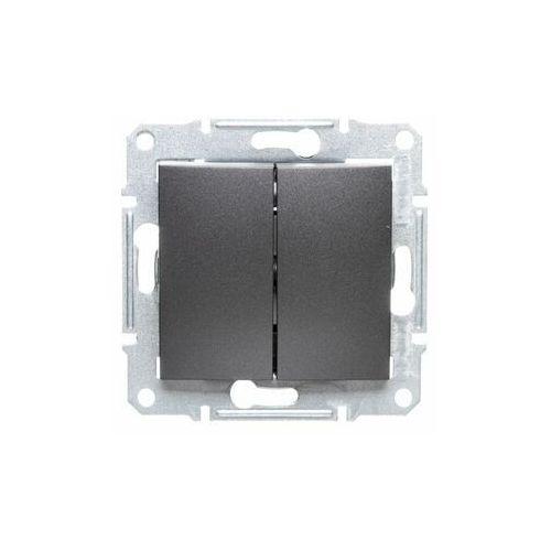 Schneider Przełącznik schodowy sedna sdn0600170 podwójny grafitowy
