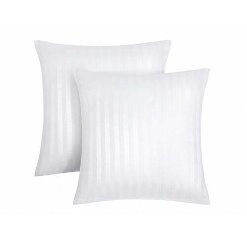 Vente-unique Zestaw 2 satynowych poszewek na poduszkę abily - 63 x 63 cm - kolor biały