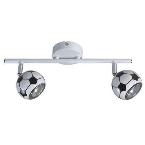 Lampa sufitowa play 2400204 spotlight ścienna oprawa dziecięca kinkiet reflektorki piłka nożna kule białe czarne marki Spot light