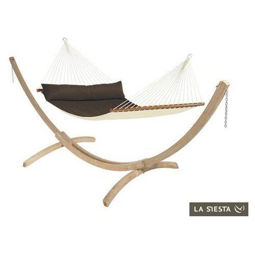 La siesta Zestaw hamakowy: hamak z drążkiem alabama ze stojakiem canoa, brązowy nqr14cns201