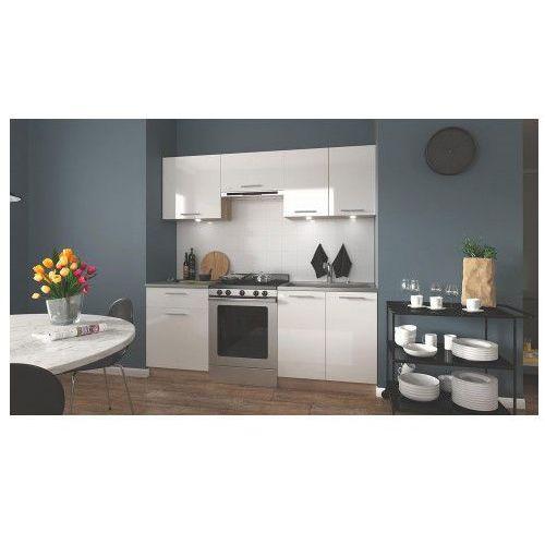 Zestaw kuchennych mebli Brenda - biały połysk + dąb sonoma, V-UA-MARIJA_200-SONOMA/BIAŁY POŁYSK