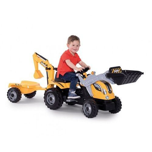 Smoy traktor na pedały max przyczepa koparka marki Smoby