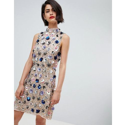 River Island Floral Embellished Mini Dress - Pink, kolor różowy