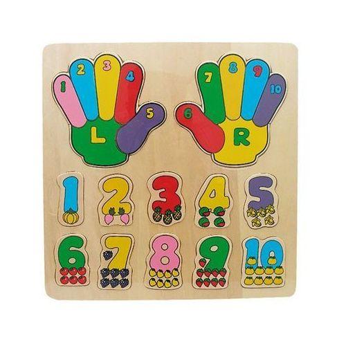 Układanka drewniana liczby ręce marki Playme
