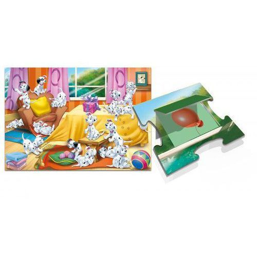 Puzzle maxi flip-flap 101 dalmatyńczyków 24 marki Lisciani