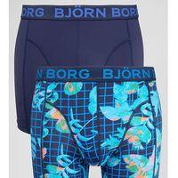 Bjorn Borg 2 Pack Trunks Microfibre Geo Floral Print - Navy, kolor szary