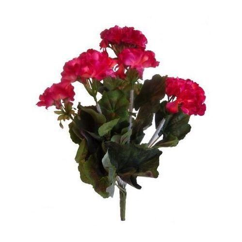 Sztuczny kwiat pelargonii ciemnoróżowa,