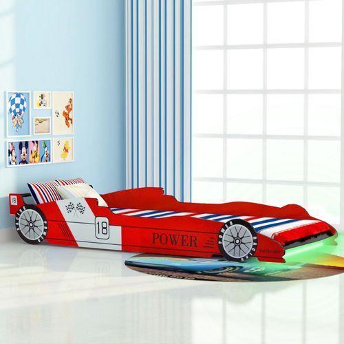vidaXL Łóżko dziecięce w kształcie samochodu, 90 x 200 cm, czerwone (8718475528111)