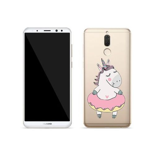 Huawei Mate 10 Lite - etui na telefon Crystal Design - Różowy jednorożec, kolor różowy