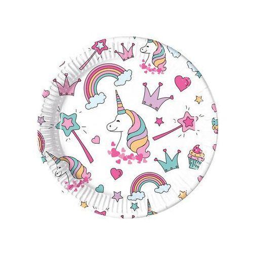 Talerzyki urodzinowe magiczny jednorożec - 23 cm - 8 szt. marki Procos non-disney