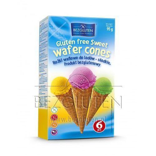 Rożki waflowe do lodów - słodkie (6 szt.) - produkt owy bezgluten marki Bezgluten