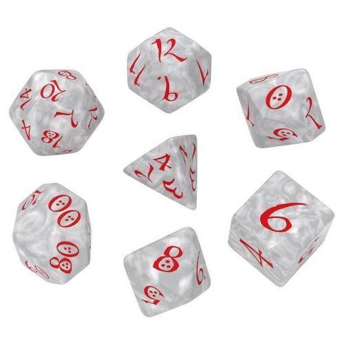 Q-workshop Komplet kości classic rpg dice set - perłowo-czerwony (5907699493326)