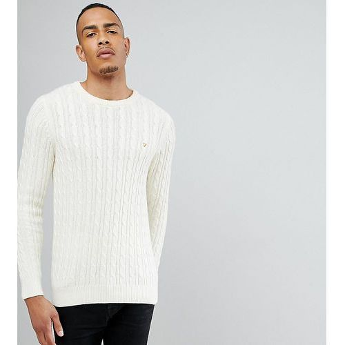 Farah lewes twisted marl cable jumper in cream exclusive at asos - cream