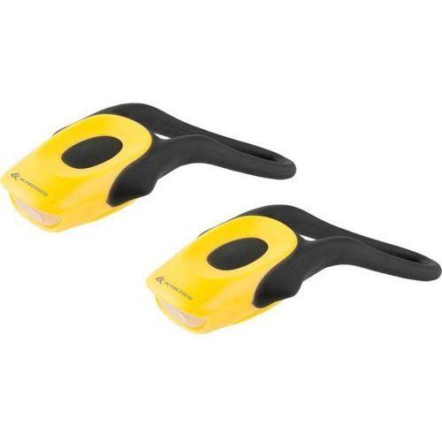 Kross Zestaw oświetlenia rowerowego tick set ii yellow