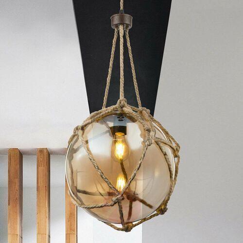 Lampa wisząca Globo Tiko 15859H1 lampa sufitowa zwis 1x60W E27 brązowa / rdzawa