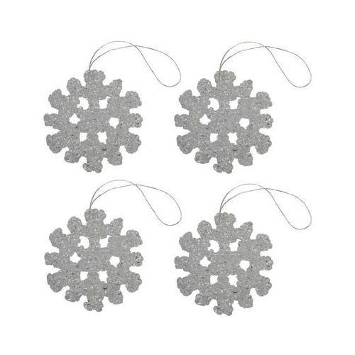 Hanmar Ozdoba choinkowa śnieżynka 6 cm 4 szt. (5901272210614)