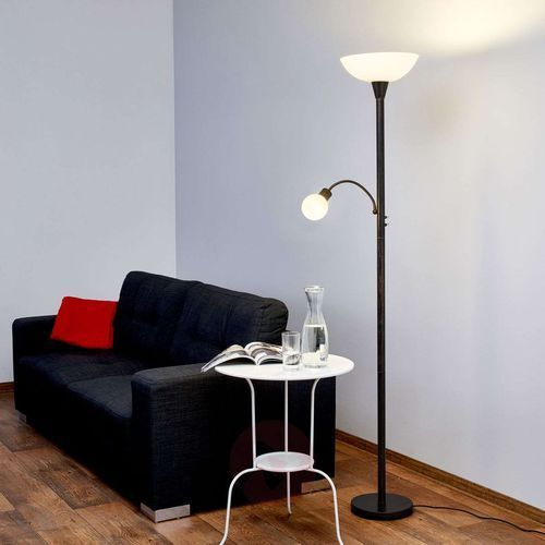 Lampa oświetlająca sufit led elaina w kolorze rdzy marki Lindby