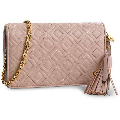 Torebka - fleming flat wallet cross-body 46449 shell pink 652 marki Tory burch