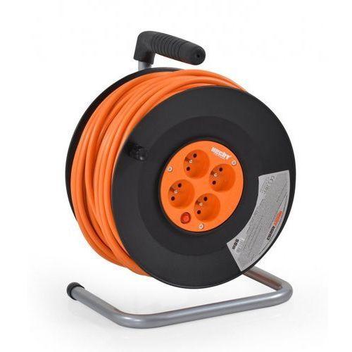 Przedłużacz kabel sieciowy na bębnie nawijany 3x1.5mm2 230v hecht 430153 30 metrów 4 wtyczki ewimax - oficjalny dystrybutor - autoryzowany dealer hecht marki Hecht czechy