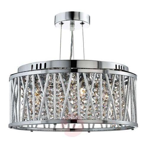 Searchlight Okrągła, nowoczesna lampa wisząca elise z draperią (5053423039343)