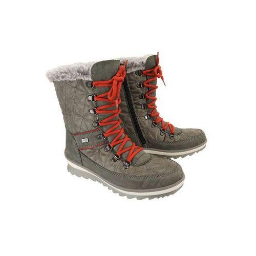 RIEKER REMONTE R4383-45 TEX grey combination, śniegowce damskie
