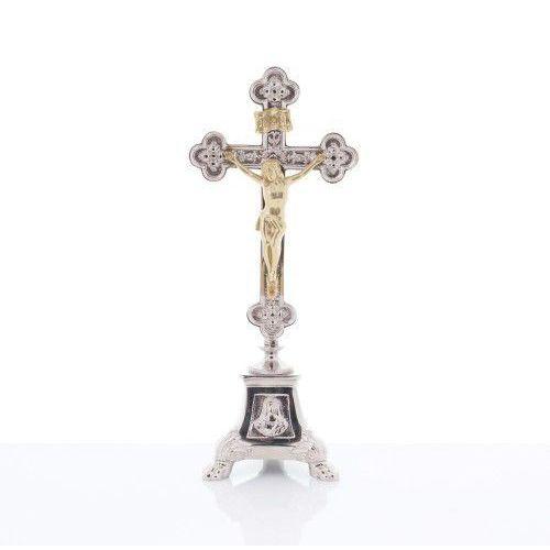 Krzyż ołtarzowy, mosiężny 38,5 cm marki Produkt polski