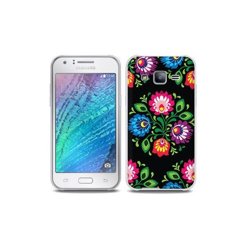 Samsung galaxy j5 - etui na telefon full body slim fantastic - czarna łowicka wycinanka marki Etuo full body slim fantastic