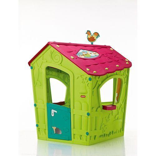 Mały domek dla dzieci magic playhouse jasnozielony - transport gratis! marki Keter