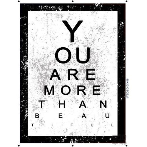 Consalnet Obraz you are more than beautiful pt164t2
