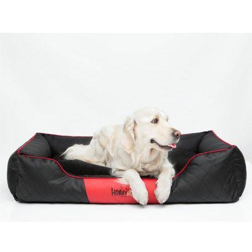 Hobbydog R4 legowisko cesarskie exclusive - czarne z czerwoną lamówką