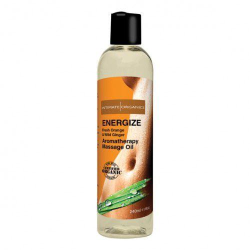 Energetyzujący olejek do masażu - Intimate Organics Energize Massage Oil 240 ml - produkt z kategorii- Olejki do masażu