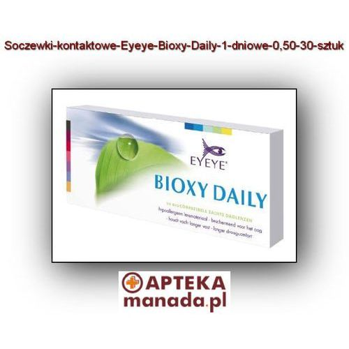 Eyeye  soczewki jednodniowe bioxy daily -0,50 - 30 sztuk