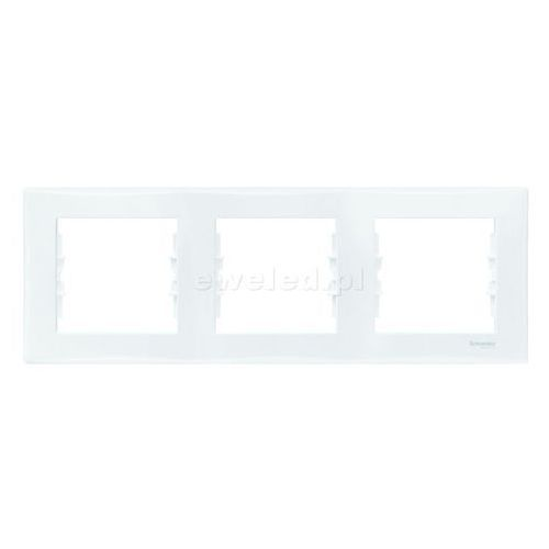Ramka 3 pozioma biała SEDNA SCHNEIDER, SDN5800521/SCH