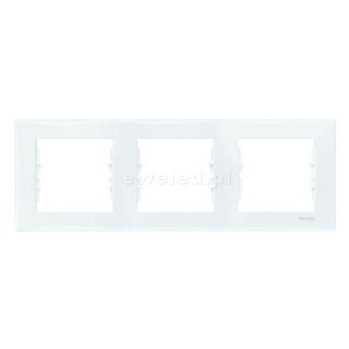Ramka 3 pozioma biała sedna schneider marki Schneider electric