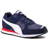 Sneakersy PUMA - Vista 369365 02 Peacoat/Puma White/Red, kolor niebieski