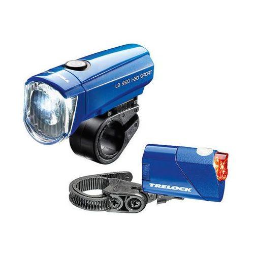 Trelock ls350 i-go sport + ls710 reego zestaw oświetlenia niebieski lampki na baterie - zestawy