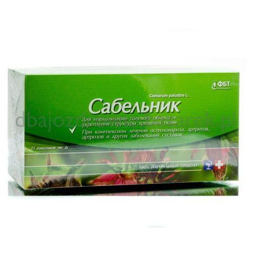 Sabelnik, siedmiopalecznik błotny (comarum palustre l.) z zieloną herbatą, 25 saszetek x 2 g marki Fbt