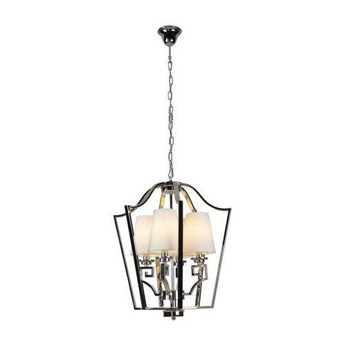 Lampa wisząca glasgow p0323 metalowa oprawa klasyczny zwis abażurki na łańcuchu satyna marki Maxlight