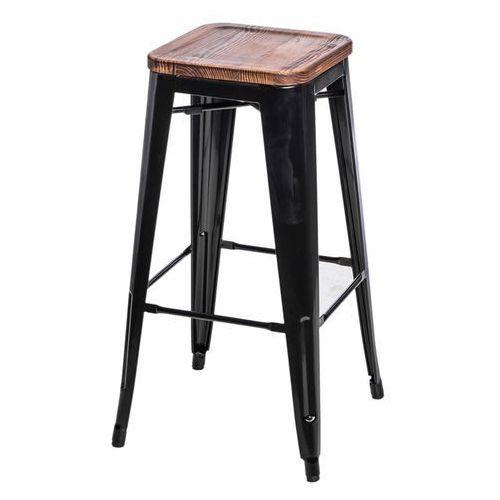 Hoker paris wood 75cm sosna - czarny marki D2.design