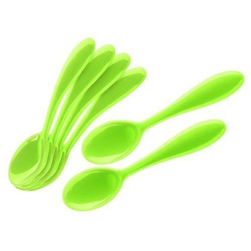 - komplet 6 łyżeczek 12 cm - art & cafe - zielone - zielony marki Guzzini