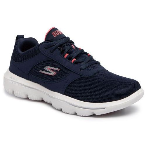 Skechers Buty - go walk evolution ultra-enhance 15734/nvcl navy/coral