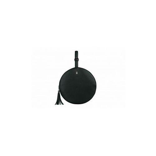 Ciemnozielona okrągła torebka skorzana w1787/fd11 marki Wojewodzic