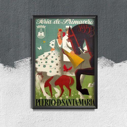 Plakat w stylu vintage plakat w stylu vintage feria puerto de santa maria hiszpania marki Vintageposteria.pl
