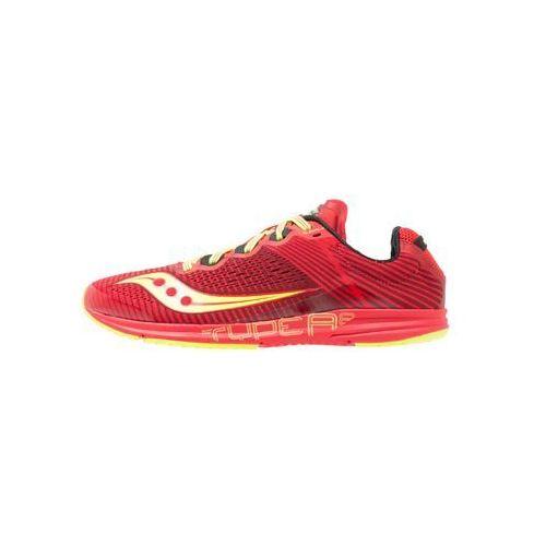 Saucony TYPE A8 Obuwie do biegania startowe red/citron, kolor czerwony