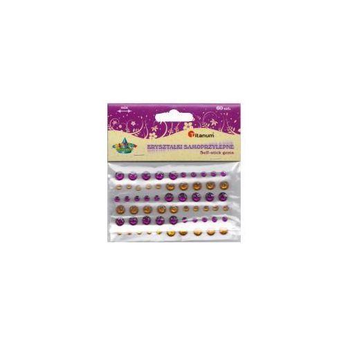Kryształki samoprzylepne 307618 złote i fioletowe - Titanum