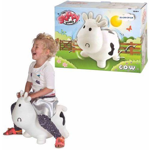 My skippy buddy zwierzątko do skakania cow, biały, kh1-23