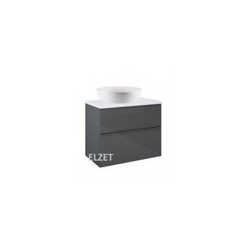 ELITA szafka Look 2S anthracite pod umywalkę nablatową + blat 80 white 167082+166892, 167082.166892